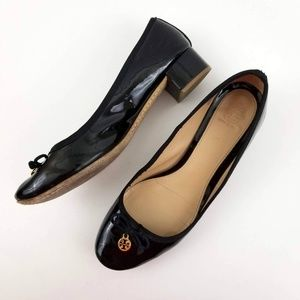 Tory Burch Chelsea Black Patent Leather Pump